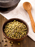 Bowl of green mung above Royalty Free Stock Photography