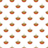 Bowl with green potion pattern, cartoon style Royalty Free Stock Image