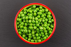 Bowl of green wet pea Royalty Free Stock Image