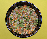 A bowl of groats and beans Royalty Free Stock Images