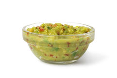 Bowl with Guacamole royalty free stock image