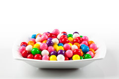 Bowl of Gumballs Stock Photo