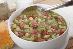 Bowl of Ham and Bean Soup Royalty Free Stock Photo