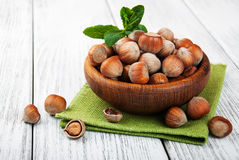 Bowl with hazelnuts Royalty Free Stock Photography