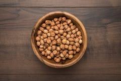 Bowl of hazelnuts royalty free stock image
