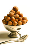 Bowl hazelnuts Royalty Free Stock Photography