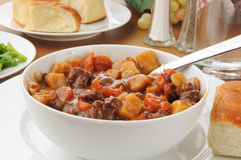 Bowl of beef stew Royalty Free Stock Photo