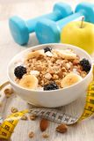 Healthy breakfast meal. Bowl of healthy breakfast meal Stock Photos