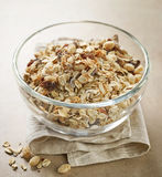 Bowl of healthy breakfast muesli Royalty Free Stock Photography