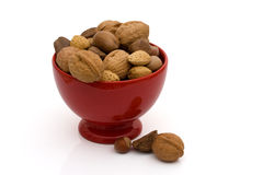 A bowl of healthy mixed nuts Royalty Free Stock Photo