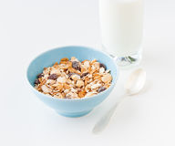 Bowl of healthy muesli Stock Photo