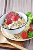 Bowl of Healthy Muesli Stock Photography