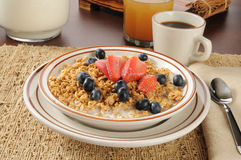 Granola with blueberries and strawberries Stock Photography