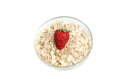 Bowl Of Healthy Oat Meal Royalty Free Stock Photo