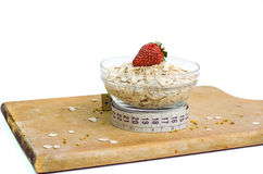 Bowl Of Healthy Oat Meal Royalty Free Stock Photos