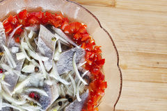 Bowl of herring Royalty Free Stock Images