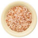 Bowl of Himalayan salt Stock Image