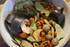 Bowl of Holiday Potpourri I stock photography