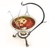 Bowl of homemade borscht. Royalty Free Stock Image