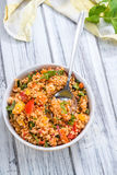 Bowl with homemade Bulgur Salad Royalty Free Stock Photo