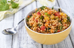 Bowl with homemade Bulgur Salad Royalty Free Stock Image