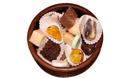 Bowl of homemade candies Royalty Free Stock Image