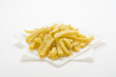 Bowl of homemade chips Royalty Free Stock Image