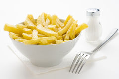 Bowl of homemade chips Royalty Free Stock Photo