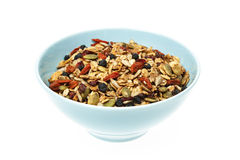 Bowl of homemade granola Royalty Free Stock Photography