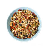 Bowl of homemade granola Stock Photography