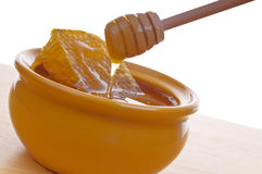 Bowl of honey Royalty Free Stock Photos