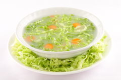 Bowl of Hot appetizer cabbage soup Stock Photography