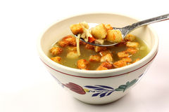 Bowl of hot  chicken soup Royalty Free Stock Images