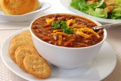 Bowl of hot chili Stock Photos