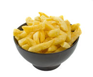 Bowl of Hot Chips Stock Images