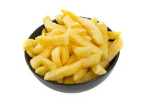 Bowl of Hot Chips over white background Royalty Free Stock Image