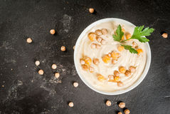 Bowl of hummus Stock Image