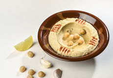 Bowl of hummus Royalty Free Stock Images