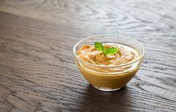 A bowl of hummus Stock Photography