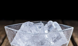 Bowl with Ice Cubes Stock Photography