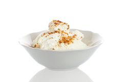 Bowl with icecream Stock Photo