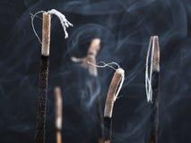 Bowl with incense sticks Stock Photos