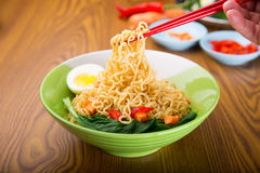 A Bowl of instant noodle Stock Photos