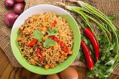 A Bowl of instant noodle Royalty Free Stock Photography