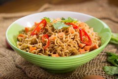 A Bowl of instant noodle Royalty Free Stock Photos