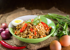 A Bowl of instant noodle Stock Image