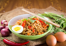 A Bowl of instant noodle Royalty Free Stock Photo