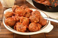 Bowl of Italian meatballs Royalty Free Stock Photography