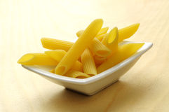Bowl of italian penne pasta Stock Photography