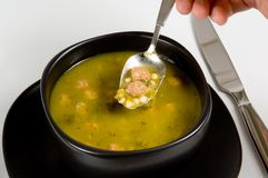 Bowl of Italian Wedding Soup Royalty Free Stock Images